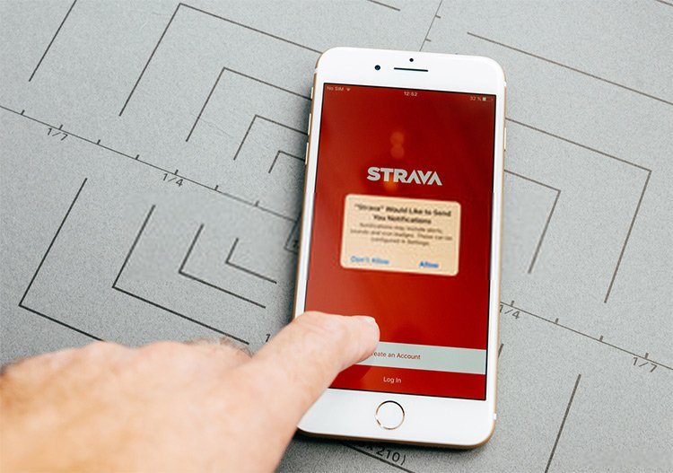 Strava allows you to access the online fitness network